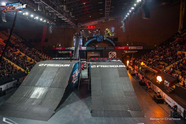 Les motocross, BMX et quads ont enchaîné des figures impressionnantes à la Maison des sports de Clermont-Ferrand.