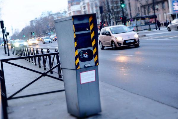 Un radar fixe à Paris. L'Île-de-France en compte environ 400 sur les 2000 que compte l'Hexagone.