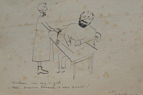 """""""Madame, vous avez la gale Merci Mr Vassaux, à vous revoir"""" Le docteur Vassaux, ami de Matisse, était normand."""