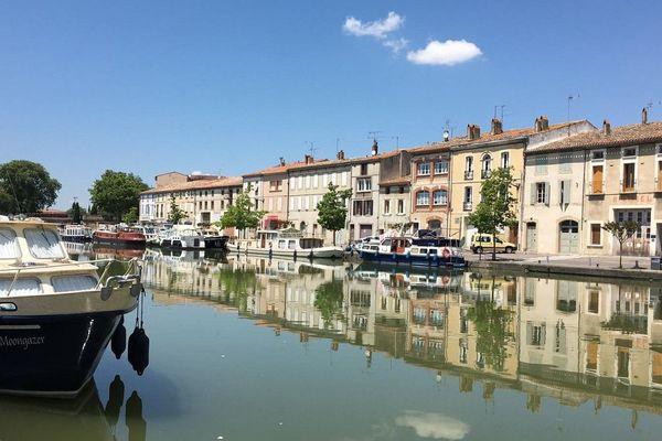 Le port de Castelnaudary dans l'Aude.