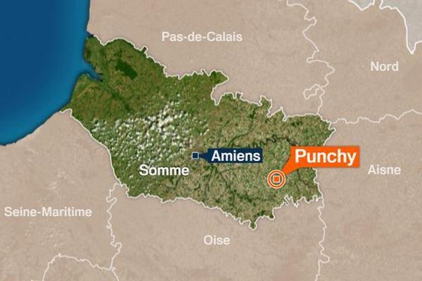 Carte Punchy dans la Somme.