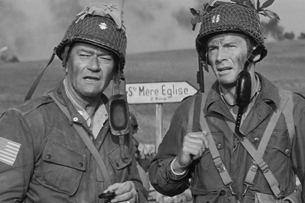 """L'acteur américain John Wayne incarne le Colonel Vandernoot dans """"Le jour le plus long"""""""