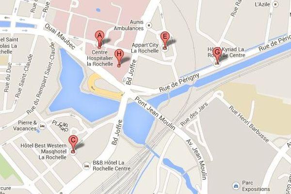 L'appartement où vivait l'auteure présumée des faits est situé à proximité du centre hospitalier de La Rochelle
