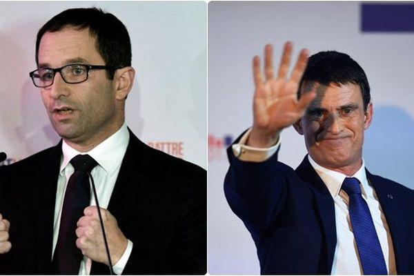 Hamon en tête du premier tour de la primaire de la gauche devant Valls