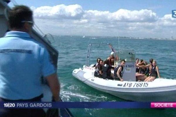 Les contrôles de sécurité en mer se multiplient pendant la saison estivale, comme ici au Grau du Roi, dans le Gard