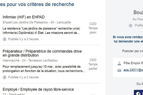 En Dordogne, le site mobilisation emploi propose 70 offres en cette mi-avril