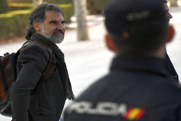 Madrid - Jordi Cuixart, président de l'association indépendantiste de Catalogne, Omnium Cultural, accusé de sédition - 16 octobre 2017.