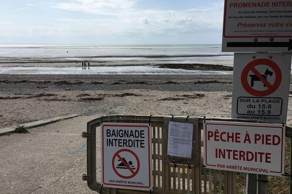 Les plages de Granville interdites à la baignade