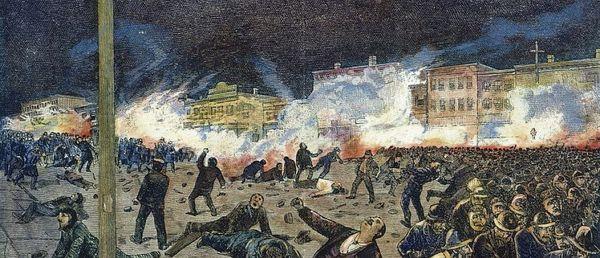 La grève de 400.000 salariés à Chicago paralyse la ville le premier mai 1886 et le mouvement sera mortellement réprimé 3 jours plus tard.