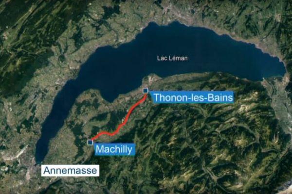 Projet d'autoroute entre Machilly et Thonon-les-Bains (Haute-Savoie)