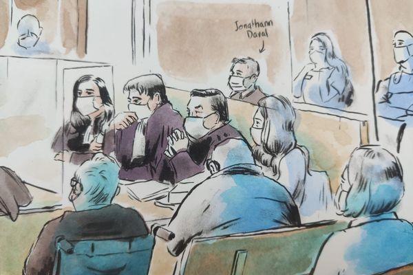 La défense de Jonathann Daval lors de son procès devant la cour d'assises de Haute-Saône.