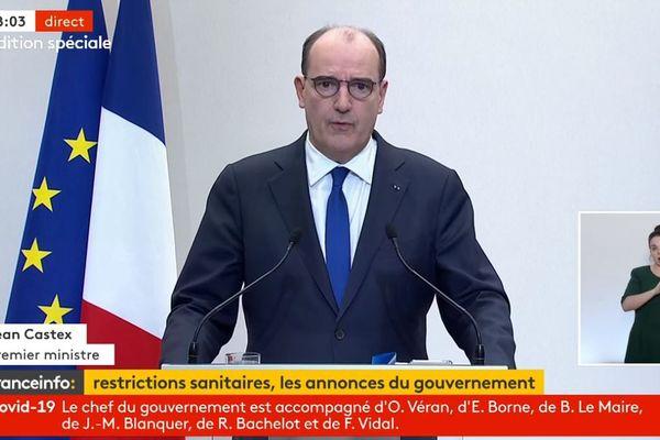 Jean Castex en conférence de presse