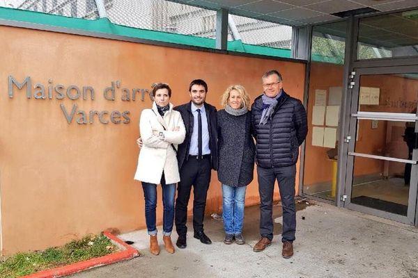 Caroline Abadie (députée de la 8è circ. de l'Isère), Jean-Charles Colas-Roy (député de la 2è circ. de l'Isère), Emilie Chalas (députée de la 3è circ. de l'Isère), Didier Rambaud (sénateur de l'Isère)