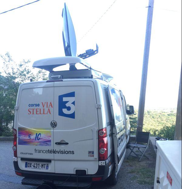 Moyens de transmission de France 3 Corse ViaStella, ici à Cervioni