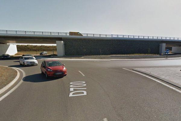 Rond point échangeur du Guerneau (RD700) à Trégueux