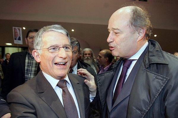 Pierre Cohen et Jean-Michel Baylet, président du PRG, lors de la campagne municipale de 2008