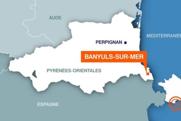 Carte Banyuls-sur-Mer (Pyrénées-Orientales)