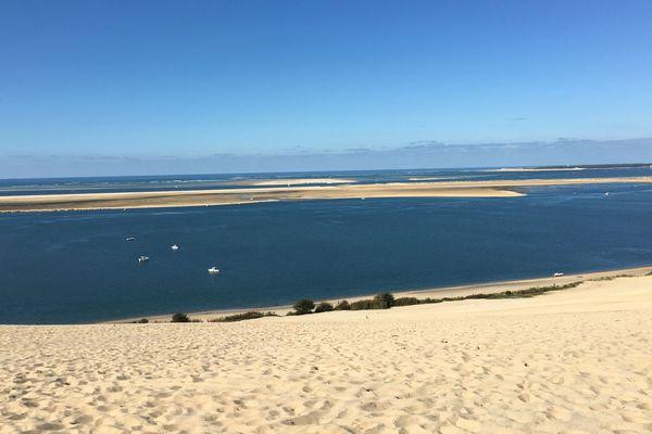 Calme et sérénité depuis la dune du Pyla