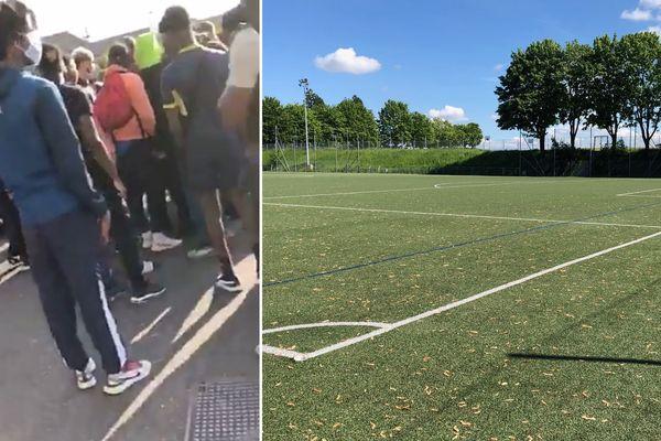 Un match de foot s'est joué ce weekend à Amiens, en dépit des interdictions sanitaires.