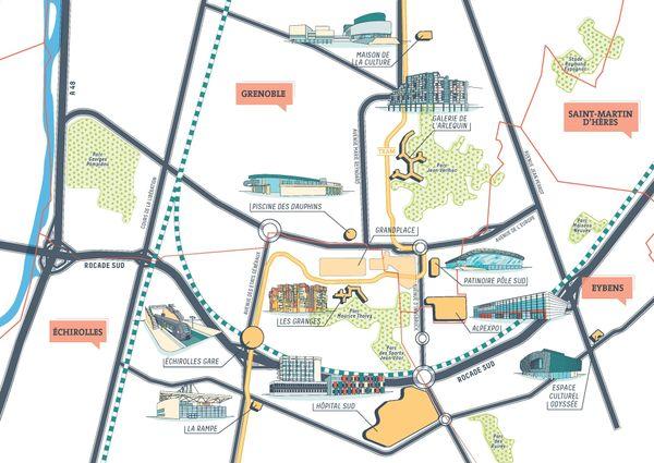 Le territoire concerné par le projet Grandalpe.