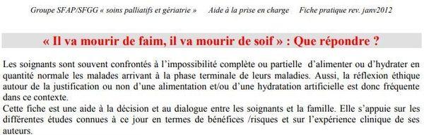 Une fiche conseil de la Société française d'accompagnement et de soins palliatifs