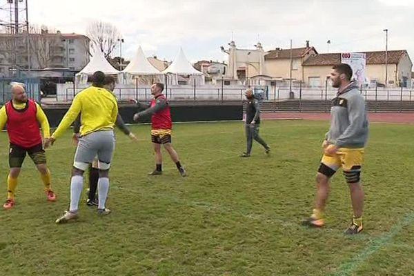 L'équipe de Carcassonne à l'entraînement - Mars 2017