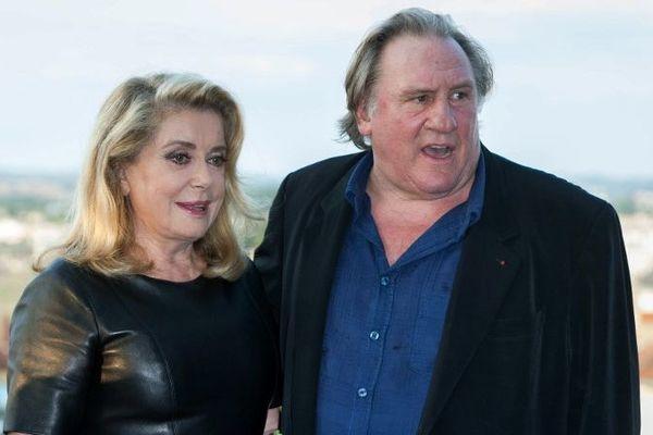 Catherine Deneuve et Gérard Depardieu, en 2017