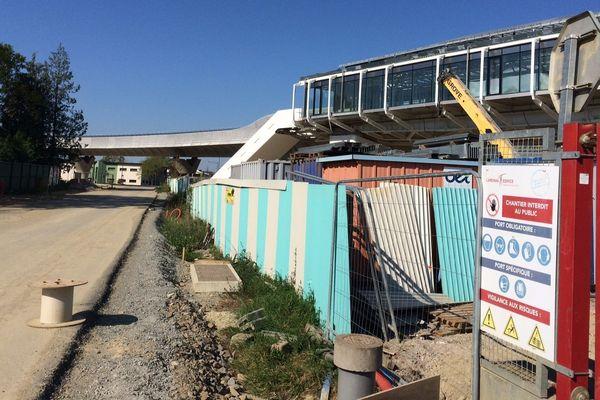 Le chantier de la ligne B de métro rennais était à l'arrêt depuis mi-mars 2020, à cause de la crise sanitaire liée au coronavirus.