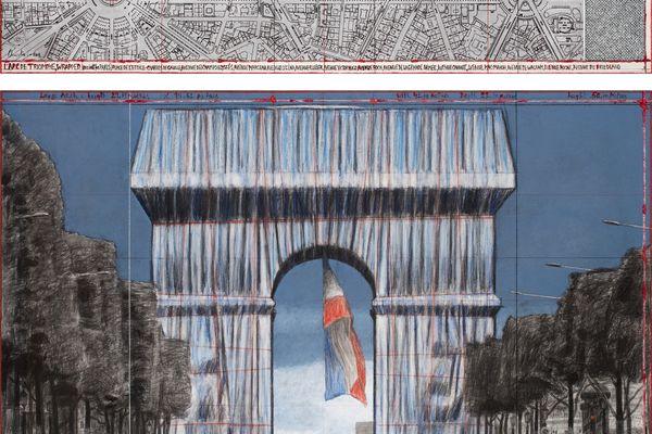 Le projet d'Arc de Triomphe empaqueté, imaginé en 2019, va voir le jour en septembre 2021, un an après la disparition de celui qui l'a imaginé, Christo.