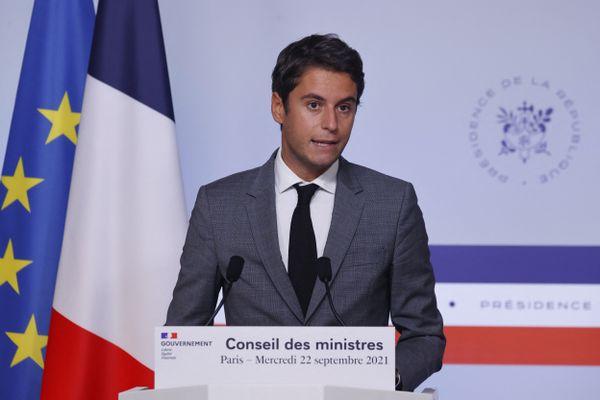 Gabriel Attal, le 22 septembre 2021.