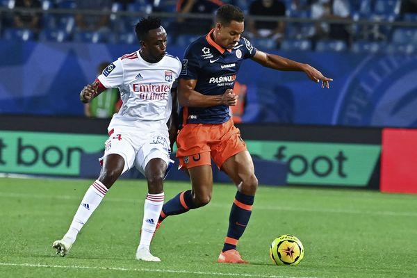 Daniel Congré lors d'un match de Ligue 1 face à l'OL, le 15 septembre 2020 à la Mosson.