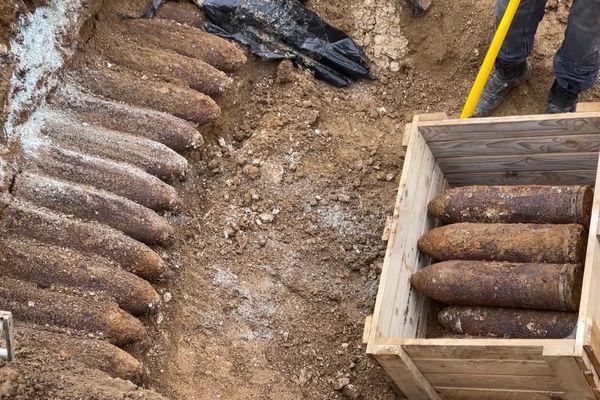 Les obus datant de la Première Guerre mondiale découverts à Levergies dans l'Aisne