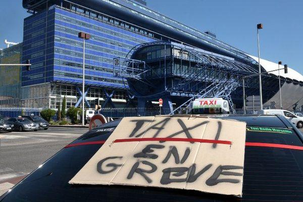 Taxi en grève à Marseille