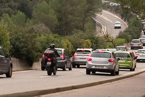 Les embouteillages à Sophia Antipolis