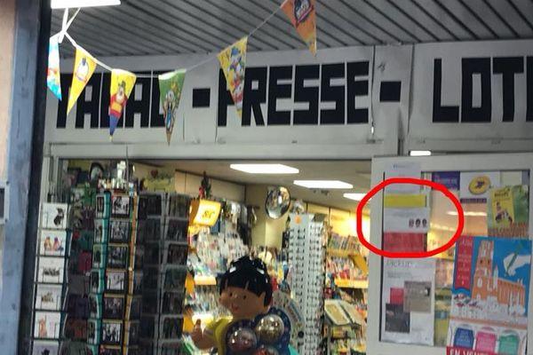 Tarn : La commerçante albigeoise avait placé une affichette à l'entrée de son magasin pour demander aux clients d'enlever casques, voiles, bonnets et casquettes. archives.