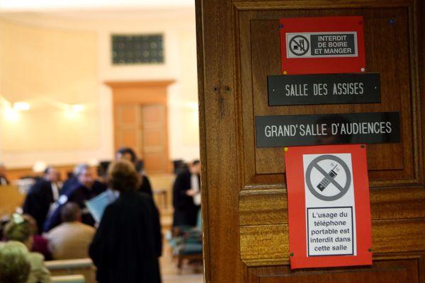 L'entrée d'une salle d'Assises - Photo d'illustration