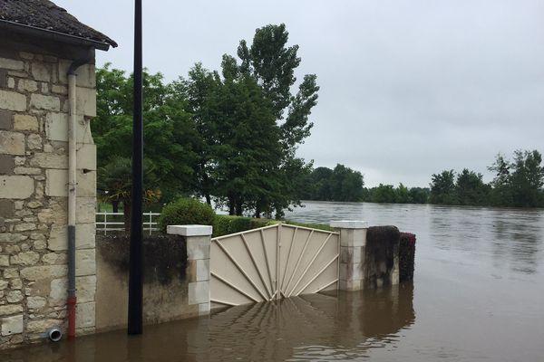Les inondations de ce mercredi 1er juin à La Roche-Posay (86)