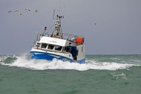 Un bateau de pêche au large des côtes de Seine-Maritime (archives)