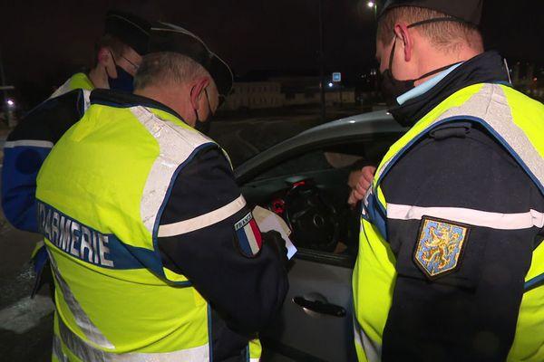 En Haute-Saône, les gendarmes ont multiplié les contrôles dès le début du couvre-feu, à 20h00.