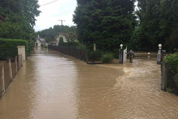 Le Louts est en crue. Plusieurs maisons ont été inondées à Hagetmau dans les Landes