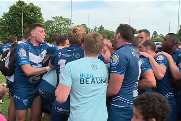La joie de l'équipe de Beaune lors du match du 27 mai.