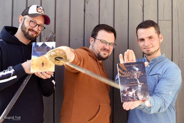 De gauche à droite : Arnaud Wallet, Romain Mars et Robin Buisson, les créateurs de Shadow of the Guild.