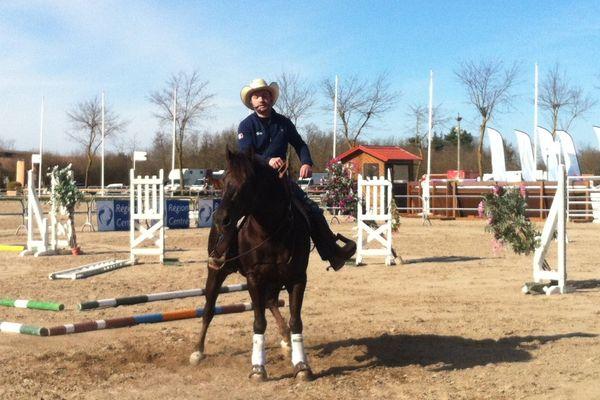 Franck Perret et New Sailor Lena,champions de reining