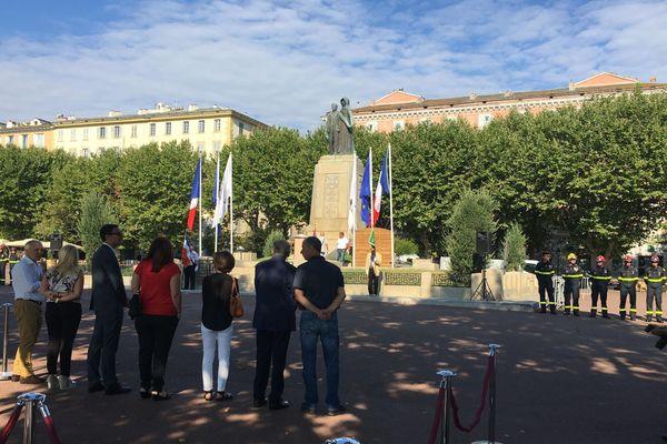 Les cérémonies du 14 juillet à Bastia ont été marquées par les mesures de distanciation sociale.