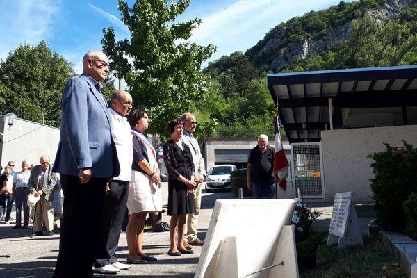 Commémoration du 16 août 1944 à Saint-Martin-le-Vinoux, en Isère