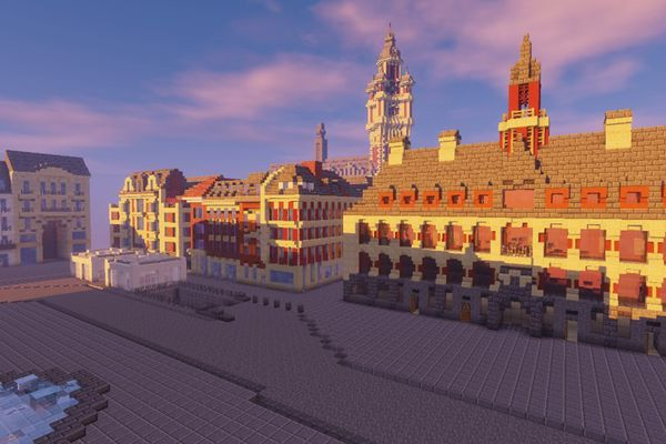 La Grand'Place de Lille version Minecraft.