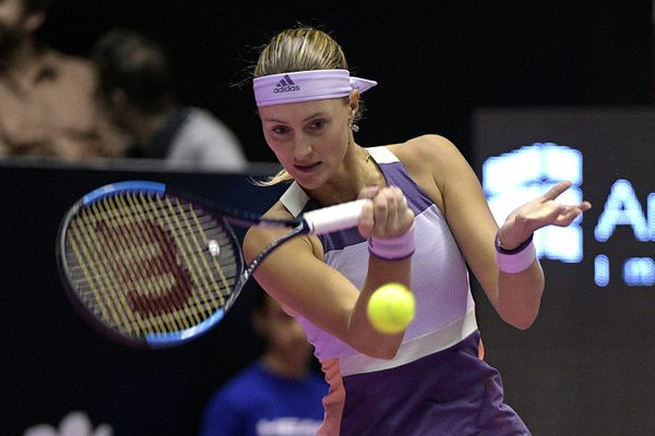 Kristina Mladenovic en mars dernier à l'Open de tennis 6e Sens-Métropole de Lyon.