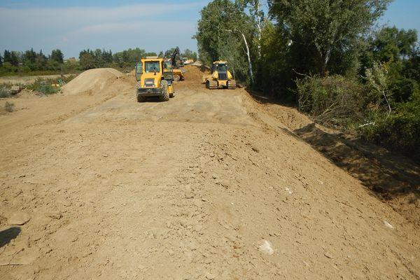 D'importants travaux ont eu lieu entre Marsillargues et Aigues-Mortes pour lutter contre les inondations