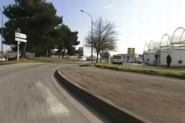 Carcassonne - zone d'activité où le policier a tiré par erreur sur une conductrice - 27 février 2013.