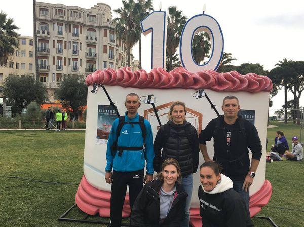 Les marathoniens qui vous ont fait vivre la course lors des répétions techniques samedi 4 novembre à Nice.